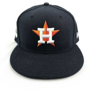 New Era Houston Astros 5950 Fitted Hat  Size 7 5/8